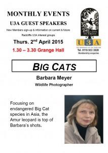 U3A April Poster