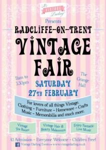 Vintage Fayre Saturday 27th February 2016